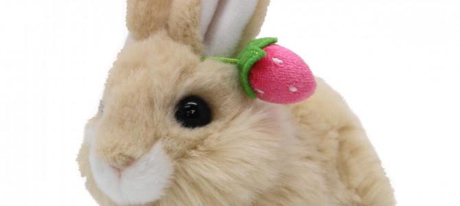 ニュー ウサギの親子 S這 ベージュ