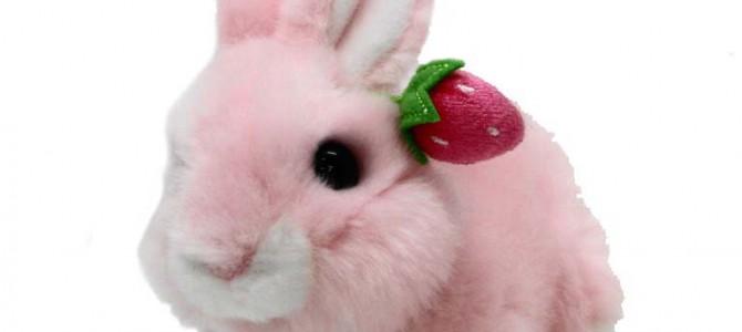 ニュー ウサギの親子 S這 ピンク