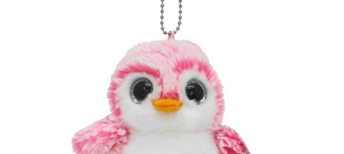 パウダーキッズ ペンギン ボールチェーン ピンク